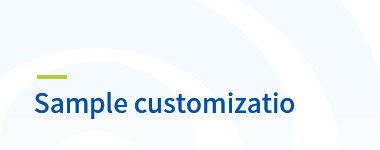 Sample customizatio